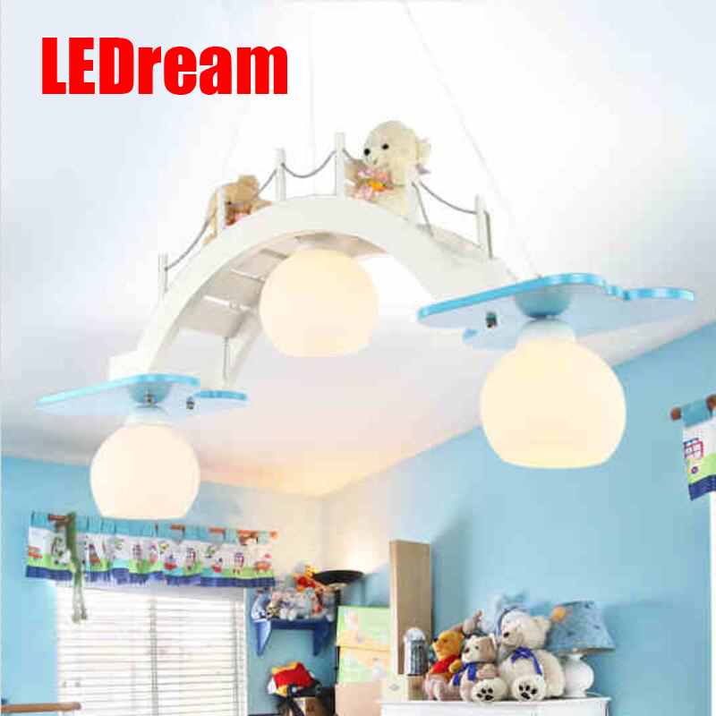 Children room chandelier LED the lamp that shield an eye Boys and girls room bedroom lamp creative lamps  bridge crane norman god that limps – science and technology i n the eighties