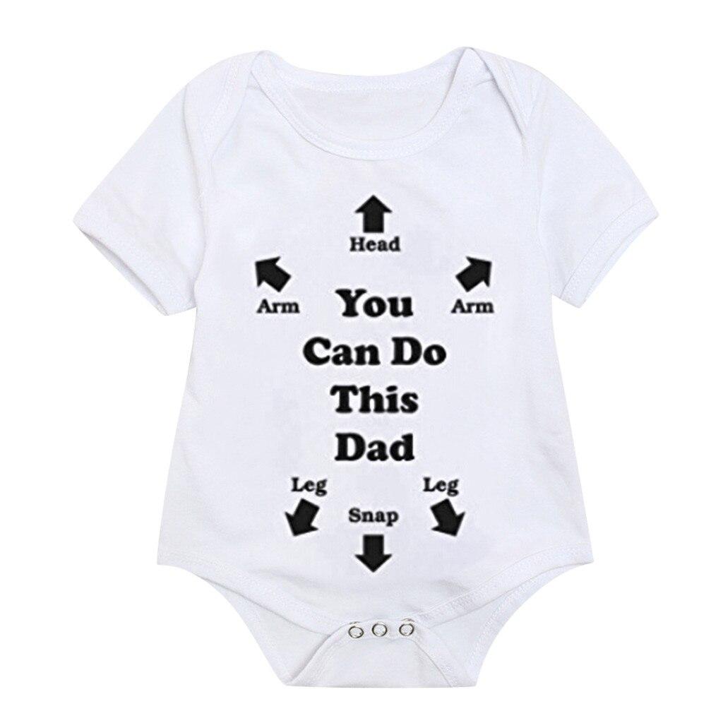 Romper Kids Baby Girl Letter Print Tops Bodysuit Sunsuit Clothes Summer Overall