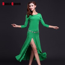 2017 Bollywood Dance Costumes 3pcs(Dress+Waist Chain+Leggings) Bellydance Costume Clothes For Dancing Indian Style To The Women