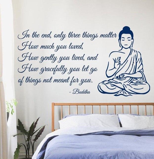 Bien-aimée Bouddha Vinyl Sticker Citation de Bouddha Yoga Gym Méditation #ZI_32