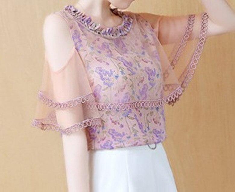 357c81a79 Cheap Triturado Camisa de gasa de manga corta vestido de verano nueva de  moda en 2019