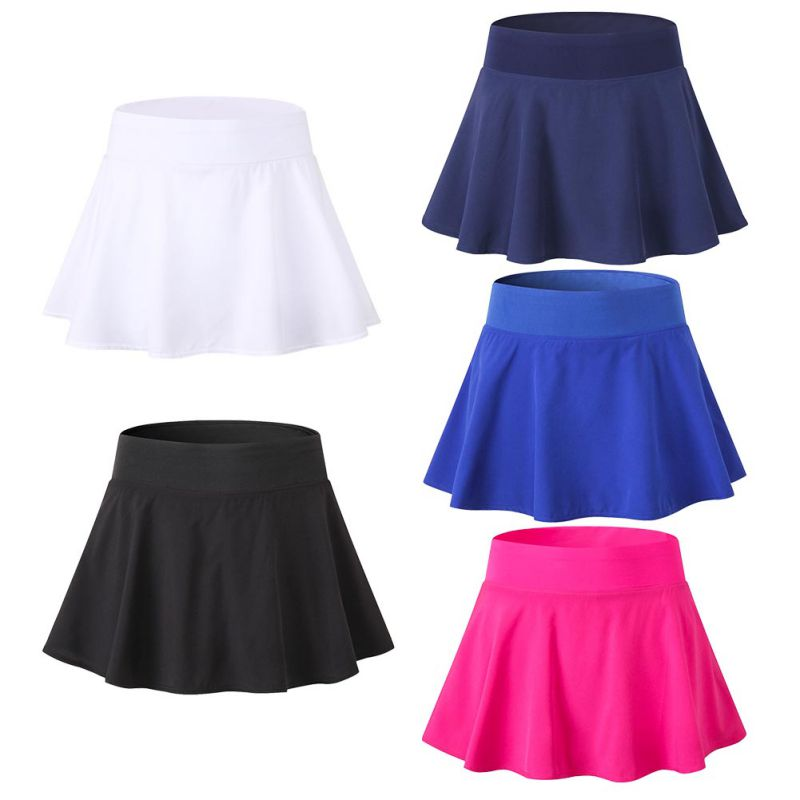 Women's Duick Drying Sports Short Skirt Badminton Table Tennis Skirt High Waist Golf Training Safety Black Skirts Clothing
