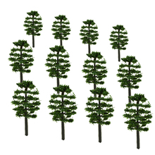 3.5/5/7/9CM model plastic green Roadside trees for architectural Train Layout