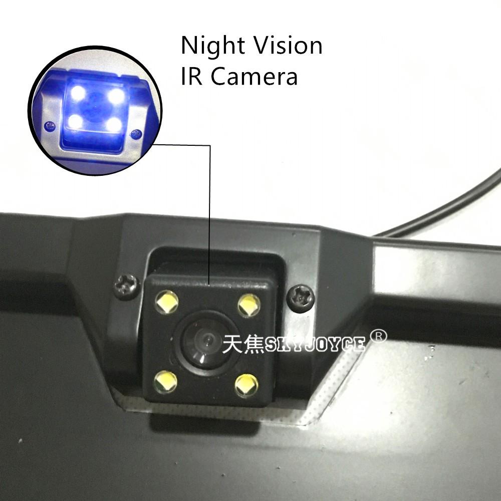 Black camera CCD HD rear view camera set with 2 radar parking sensor EU European license plate camera rear parking camera LED (8)