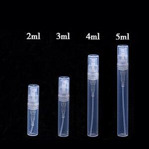 Image 3 - Mini botella de plástico para Perfume, atomizador de botellas de aceite rellenables, Mini contenedor portátil de cosméticos, 2ml, 3ml, 5ml, lote de 50 unidades