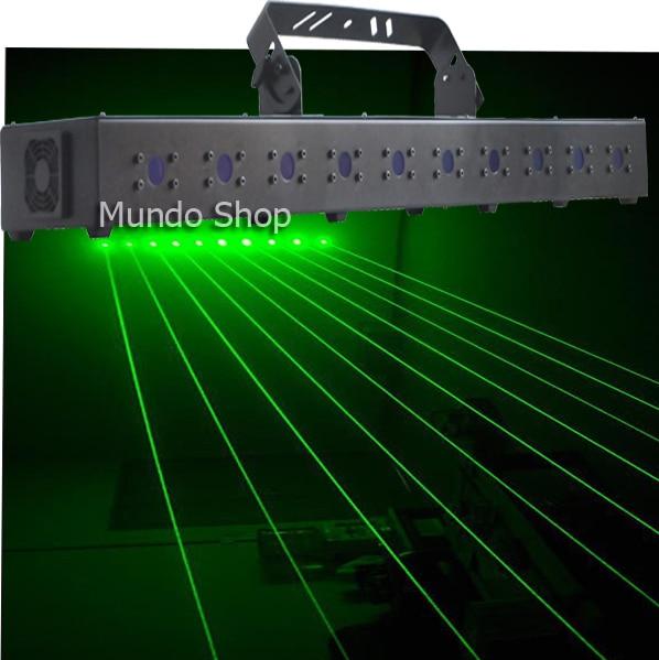 1000mw 10 Eyes 10 Heads Green Laser Curtain Light