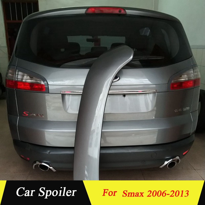 For Ford S max Spoiler High Quality ABS Material Car Rear Wing Rear Spoiler For Ford