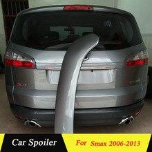 Для Ford S-max спойлер высокое качество абс материал заднее крыло заднего спойлера для Ford S-max Smax 2006-2013