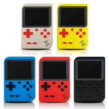 лучшая цена Retro Portable Mini Handheld Game Console 8-Bit 2.8 in Color LCD Screen Built-in 400 Games Kid Video Handheld Game Player