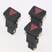 3Pcs High-Quality Car Alarm Emergency Warning Light Switch Button For A4 S4 RS4 8ED 941 509 8ED941509 8E0 941 509 5PR