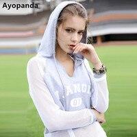Ayopanda Mesh Long Sleeve Fitness Hoodies Women Letter Print Contrast Sweatshirt Breathable Quick Dry Gym Sports