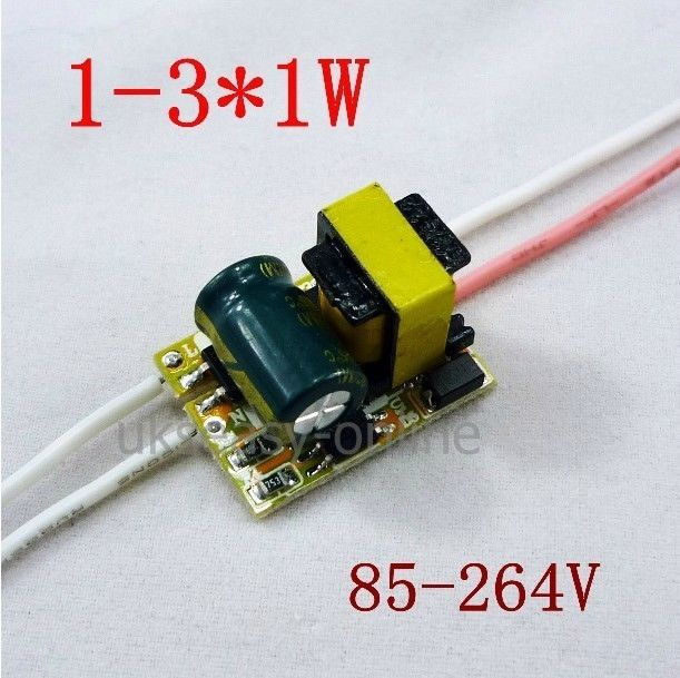 5pcs (1~3)*1W ,AC 85~265v High power Driver For LED Lamp Light Constant Current Driver Power Supply power supply module driver for led ac 85 265v page 4 page 5