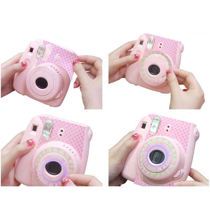 Pour Instax Mini 8/9 autocollants tournesol Protection pour appareil photo Fujifilm Polaroid