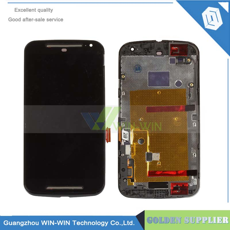 Brand New For Motorola MOTO G2 XT1063 XT1068 XT1069 Lcd display touch screen digitizer Assembly With frame Black Replacement new lcd display touch screen digitizer with frame for motorola moto g2 g 2nd xt1063 1064 1068 1069 free shipping