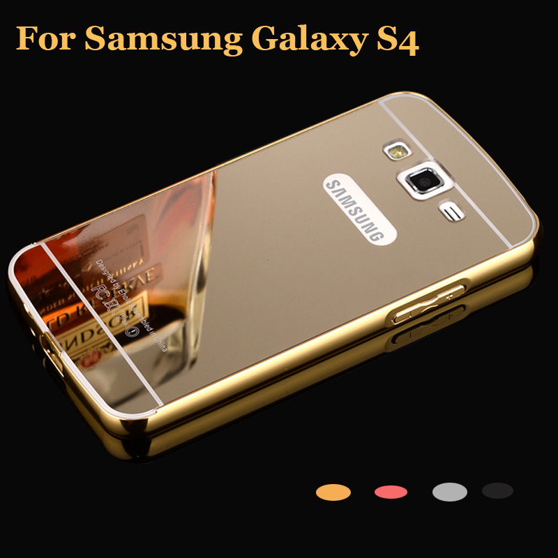 check out a5abf c9425 for Samsung Galaxy S4 i9500 Case Bumper Aluminum Frame + Mirror Acrylic  Back Cover Cases 9500 for S4 Case 4s black S 4 SM i950-in Phone Bumper from  ...