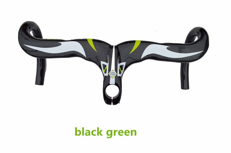 New Design Carbon Fibre Road Bike handlebar and stem/ bicycle handlebar intergrated/ Siamese handlebar/ bent bar