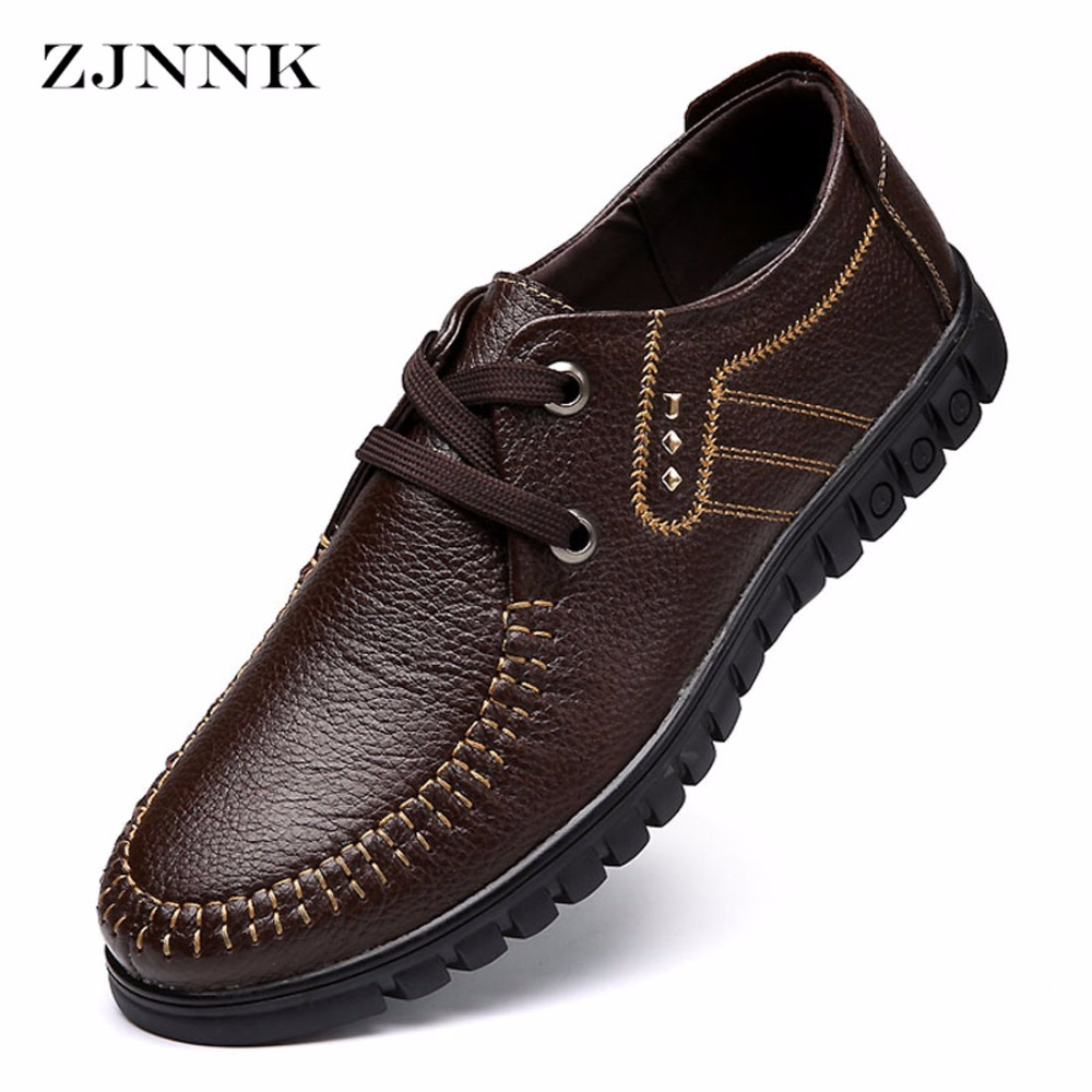Brand New Spring Autumn Italian Men Dress Formal Shoes Comfortable Slip-on Man Loafers Fashion Casual Mens Flats Oxford Shoes Relieving Rheumatism Shoes
