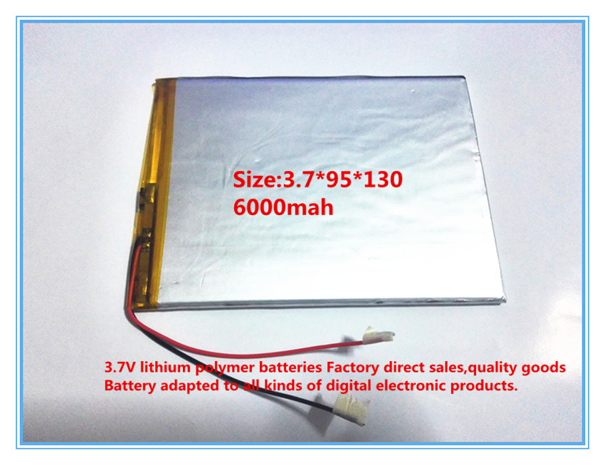 Free shipping large capacity 3.7 V tablet battery 6000 mah each brand tablet universal rechargeable lithium batteries 3795130