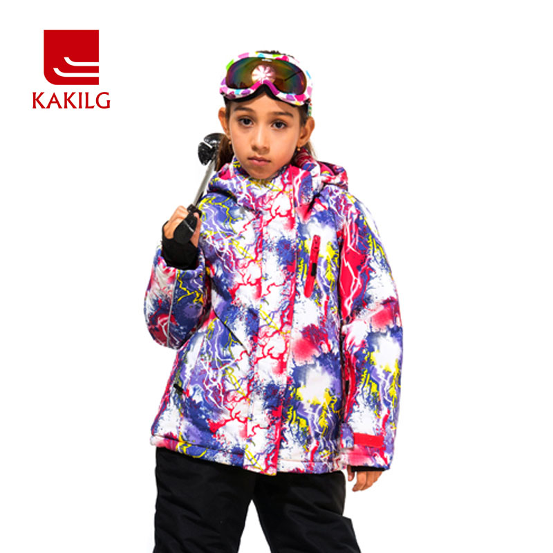 2017 New Ski Jacket For Girls Winter Anorak Outdoor Windproof Waterproof Child Snow Clothing Lassie Skiing Sports Coat GirlKL708 2016 hot child girl winter outdoor ski snow windproof hiking warm jacket coat new