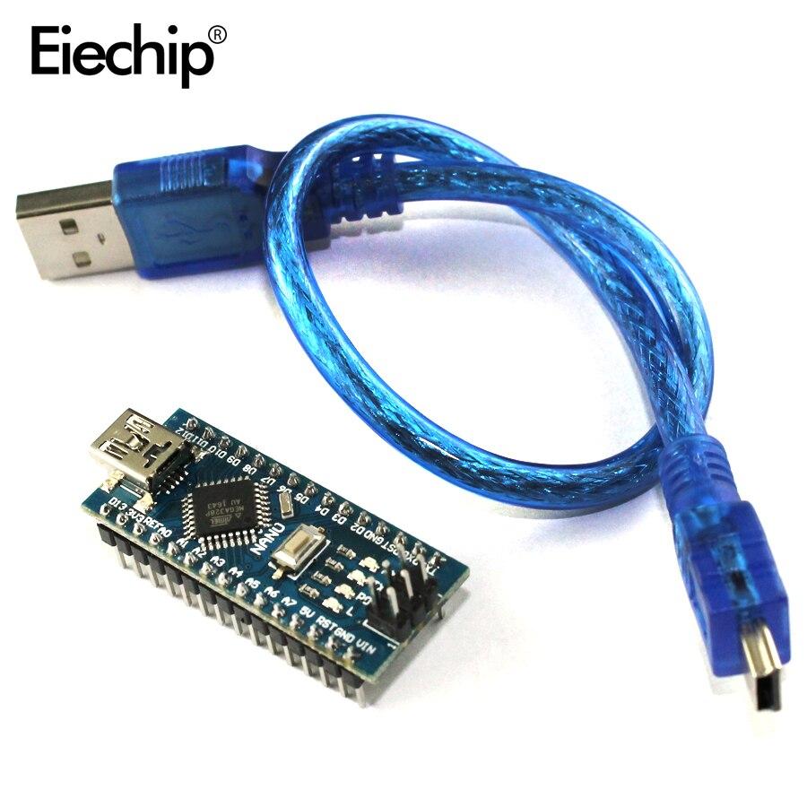 1 pcs Nano 3.0 controller compatibile con arduino nano CH340 driver USB con CAVO NANO V3.0 ATMEGA328P kit fai da te elettronico