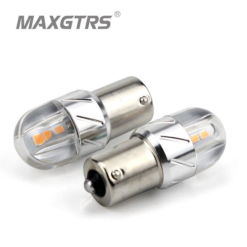 2X Car LED Reverse Lights 1156 BA15S P21W Tail Brake Bulbs 12V-24V 30W White//Red