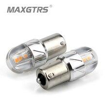 2×1156 S25 BA15S P21W 3030 чип белый/желтый/красный светодио дный 18 Вт указатель поворота резервного копирования Обратный лампа хвост лампы стоп-сигналы поиска