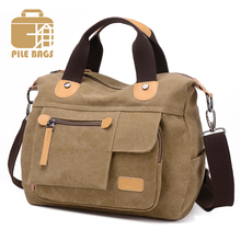 Korean High Quality Canvas Shoulder Bag Women Fashion Luxury Designer Portable Handbag Daypack Multifunction Messenger