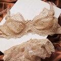 Мода кружевной бюстгальтер удобная дышащая плюс размер очаровательная сексуальное нижнее белье ультра-тонкий бюстгальтер набор