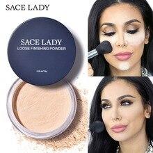 SACE LADY, рассыпчатая пудра для лица, матовая, прозрачная, установочная пудра, профессиональный полупрозрачный макияж, контроль за маслом, компактная косметика
