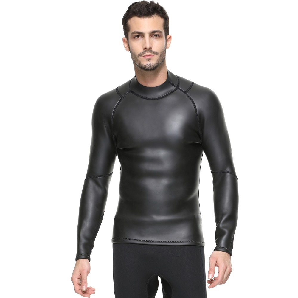 SBART 3MM Neoprene men Triathlon Swim Shirt Super elastic waterproof Snorkeling Smooth skin CR soft Light leather fabric T shirt
