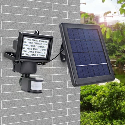 led Super Bright Waterproof Solar Lamp 60 Leds Pir Motion Detector Door Wall Lamp Garden Emergency Lights the ivory white european super suction wall mounted gate unique smoke door