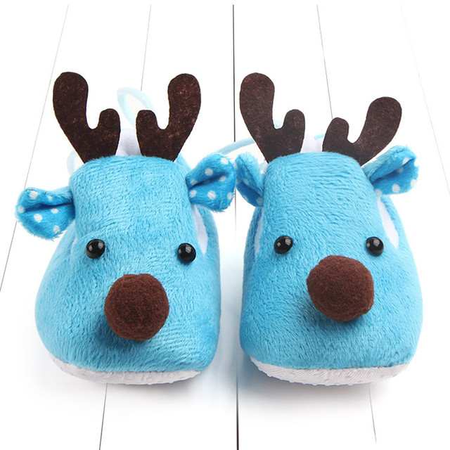 Solid Cotton Deer Print Shoes 3