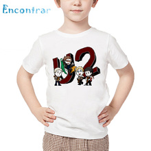 Kids Rock Band U2 Print T shirt