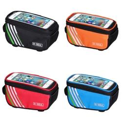 Сенсорный экран велосипедные сумки MTB горный велосипед РАМКИ Передняя труба сумка для хранения 5,0 дюймов мобильного телефона водонепроница