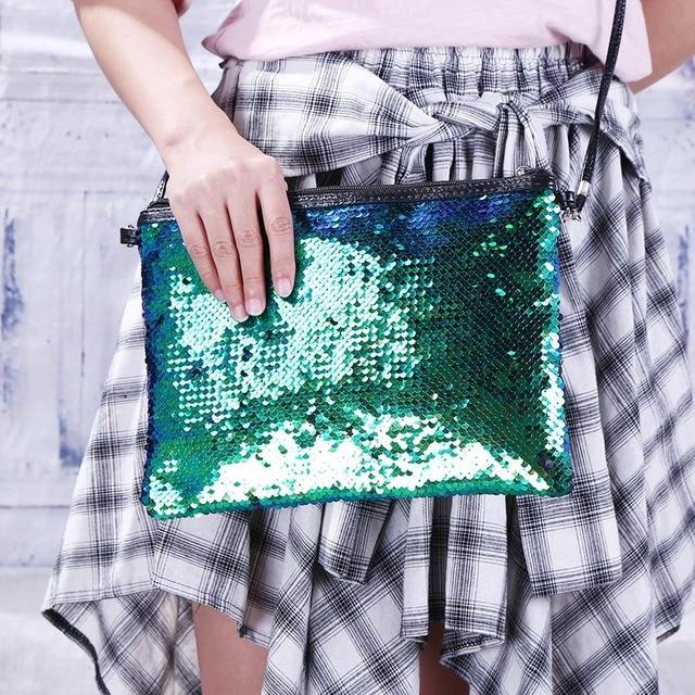 New Mermaid Sequin Glitter Travel Cosmetic Bags Makeup Brush Handbag Pouch Beauty BB Cream Bath Wash Make Up Brush Holder Bag