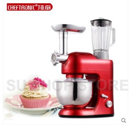 CHEFTRONIC mélangeur sur pied SM-1086 1000 W 5L bol 6 vitesses inclinable multifonction cuisine électrique mélangeur Machine