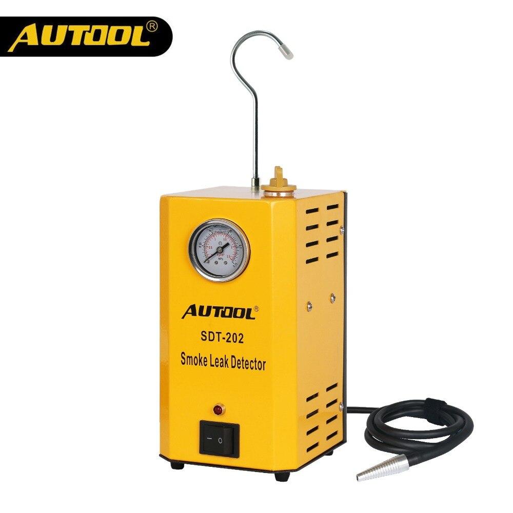 AUTOOL SDT202 Carro Tubo de Máquinas de Fumaça Auto Automotive Leak Locator Descobrir Fumaça Detector de Vazamento de Gás Analisador de Diagnóstico Ferramenta