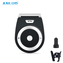 ANLUD Bluetooth Car Kit And Universal Holder Handsfree Wireless Bluetooth Speaker Phone MP3 Player Support Connects 2 Phones стоимость