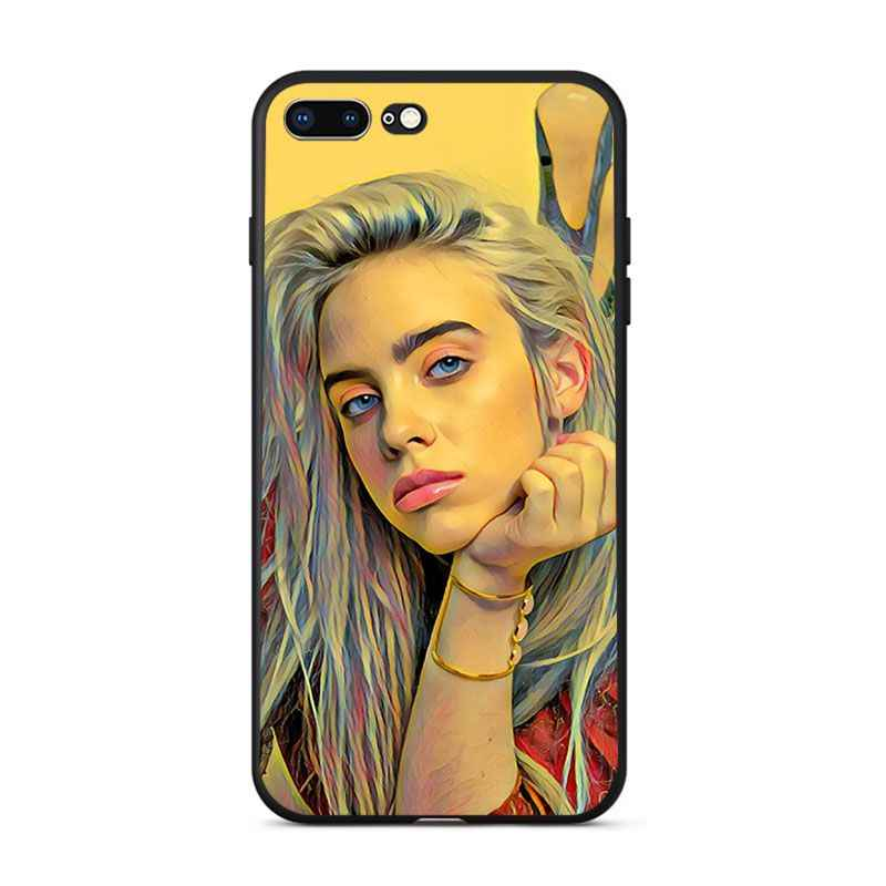Babaite Billie Eilish pintura teléfonos celulares Capa Coque cubre caso para iPhone 8 7 6 6 S Plus 5 5S SE XR X XS X MAX Coque Shell