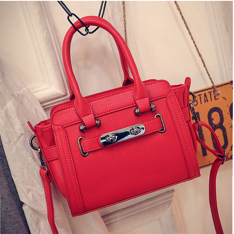 2017 Hot New Fashion Women Female European Style Solid Color Zipper Trapeze Bag Casual Handbags Shoulder Bags Messenger Bag etersto2018 new casual fashion stitching hit color handbags new fashion handbags parker women s party wallets ms messenger bag