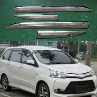 4pcs Car trim For Toyota F653 F654RM Avanza 2015 2016 2017 2018 Car Accessories ABS Chrome plated Side Molding Body Kits Trim