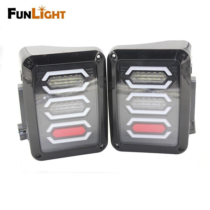 США/ЕС издание реверс тормоза сигнал поворота LED задний хвост свет для Wrangler из светодиодов задний фонарь с тормозом поворота Обратный свет