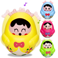 Nodding Tumbler Doll Rattles Baby Toys Bell Music Roly-poly Early Education Toys Christmas Gift for Kids