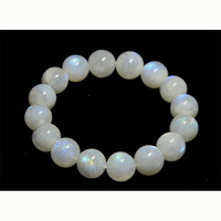 Free shipping Discount Wholesale Genuine Natural Blue Moonstone Stretch Bracelet Round beads 13mm Fit Jewelry DIY Beads 02834