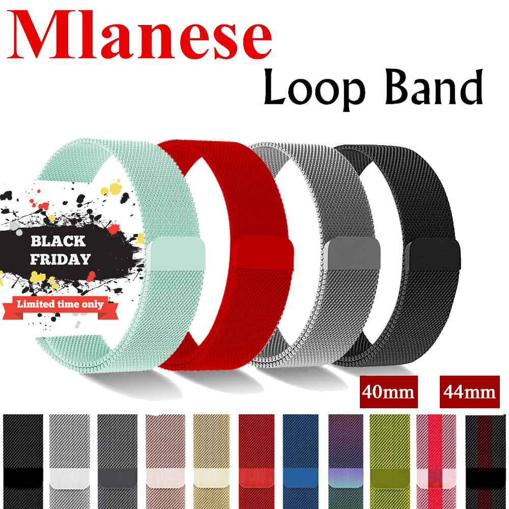 EIMO Milanese Loop Pulseira For Apple Watch band 42mm 44mm Iwatch 4/3/2/1 40mm 38mm Correa Strap link Bracelet Wrist Watchband eimo sport loop strap correa for apple watch band 42mm 44mm 40mm 38mm iwatch series 4 3 2 1 woven nylon bracelet wrist watchband