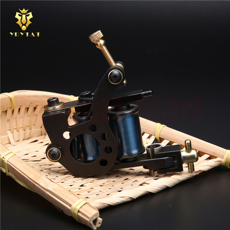 New Original YRYTAT 10 Wrap Coil Liner Tattoo Machine Gun Cast Iron Luo's Tattoo Machine Gun Supply HIM02-L# cast iron alloy dragonfly tattoo machine gun yellow