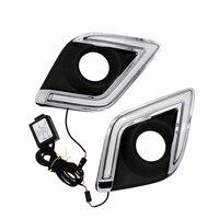 Free Shipping 12V 6000k LED DRL Daytime Running Light Case For Toyota Hilux Revo VIGO 2015