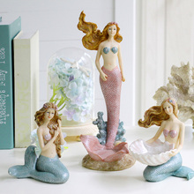 Creative Kawaii Mermaid miniature garden Resin arts and craf