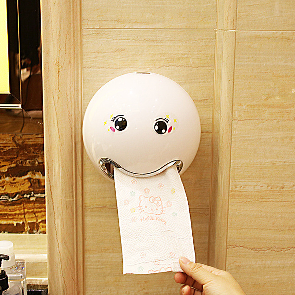 Creative Cartoon Ball Shaped Tissue Box Sanitary Roll Paper Storage Bathroom Bedroom Wall Sticker Toilet Paper Boxes