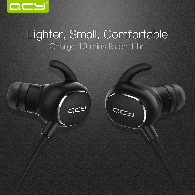 QCY IPX4 sweatproof headphones bluetooth V4.1 wireless sports earphones aptx 3d stereo headset with microphone handsfree calls